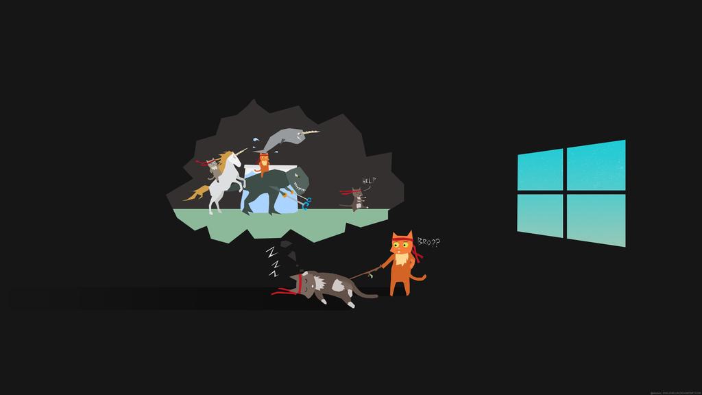 Ninjacat Dreaming Ninja Cats Windows 10 Wallpaper