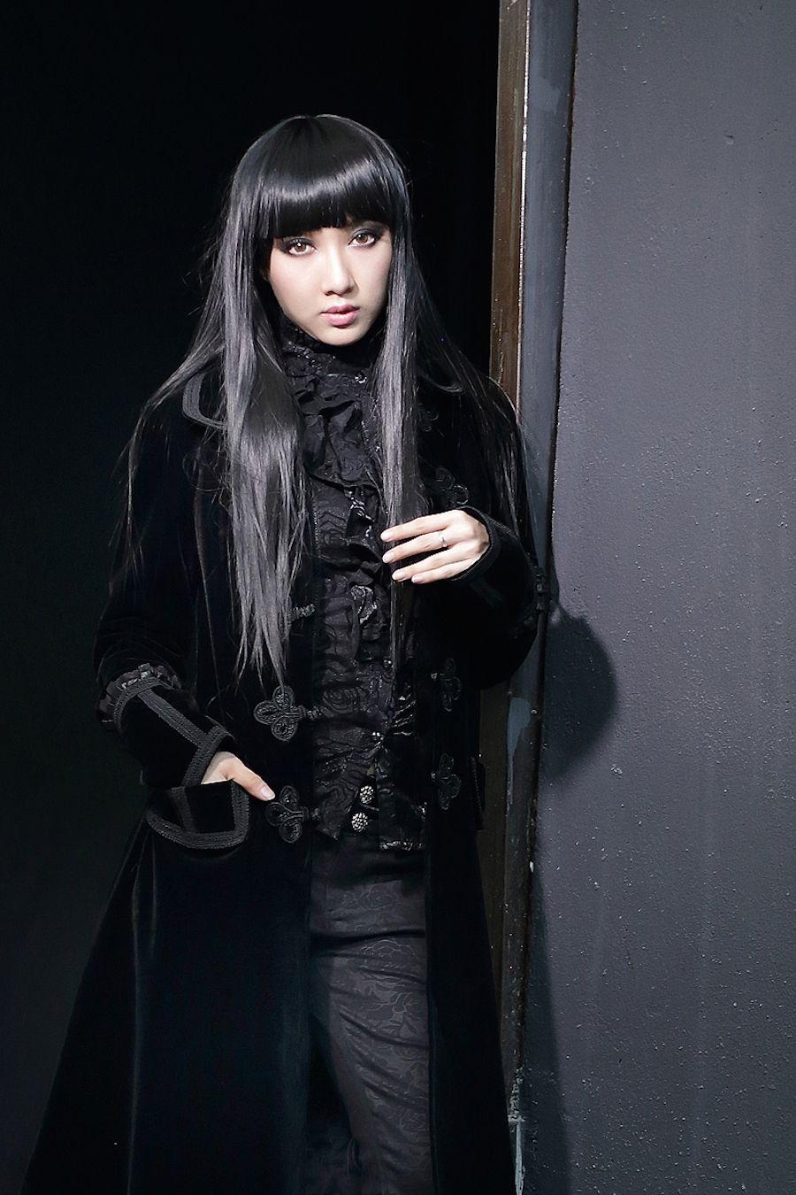 manteaux femme velours gothique pentagramme manteau. Black Bedroom Furniture Sets. Home Design Ideas