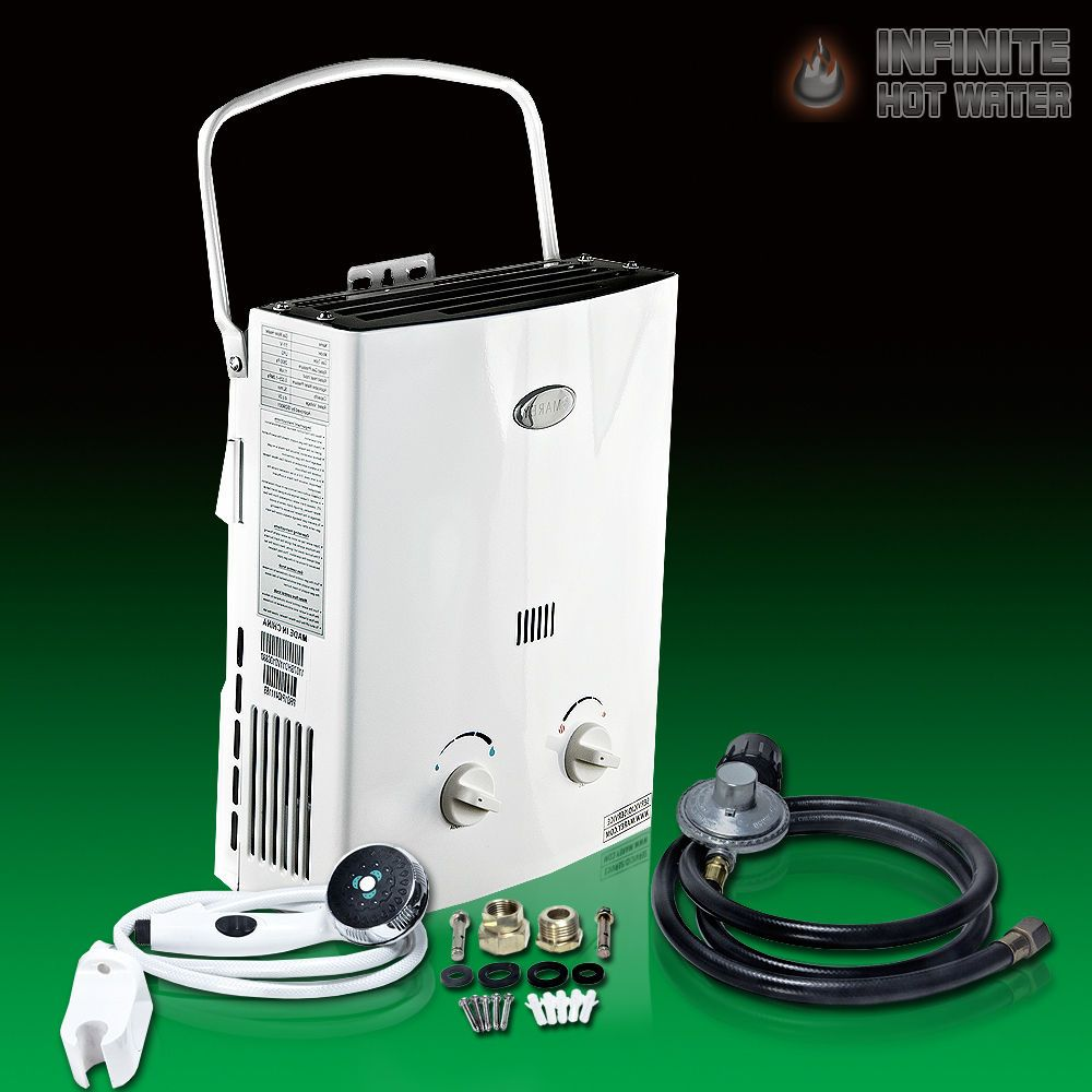 Best Portable Outdoor RV Camper Camping Shower Propane Tankless Hot