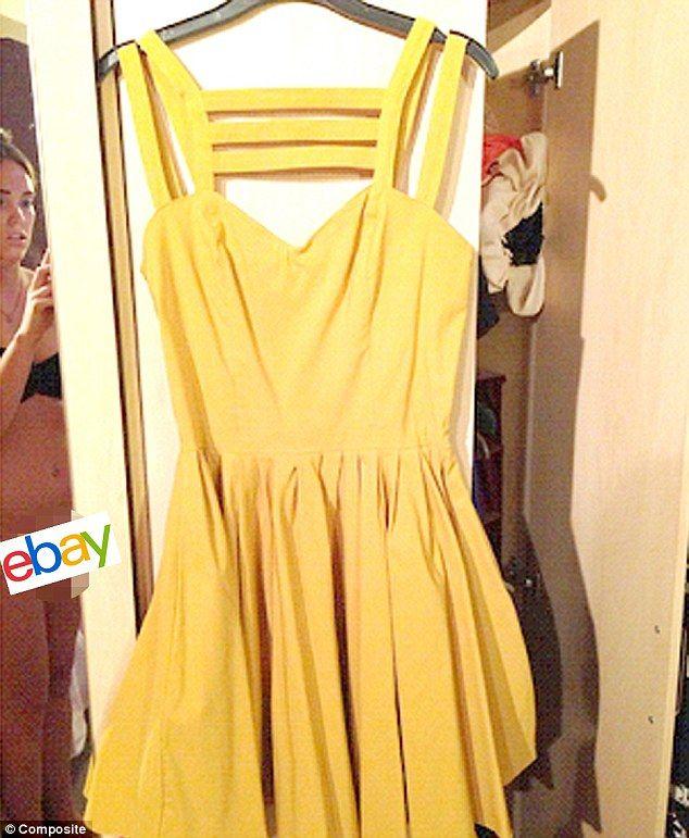 Ebay yellow dress skater
