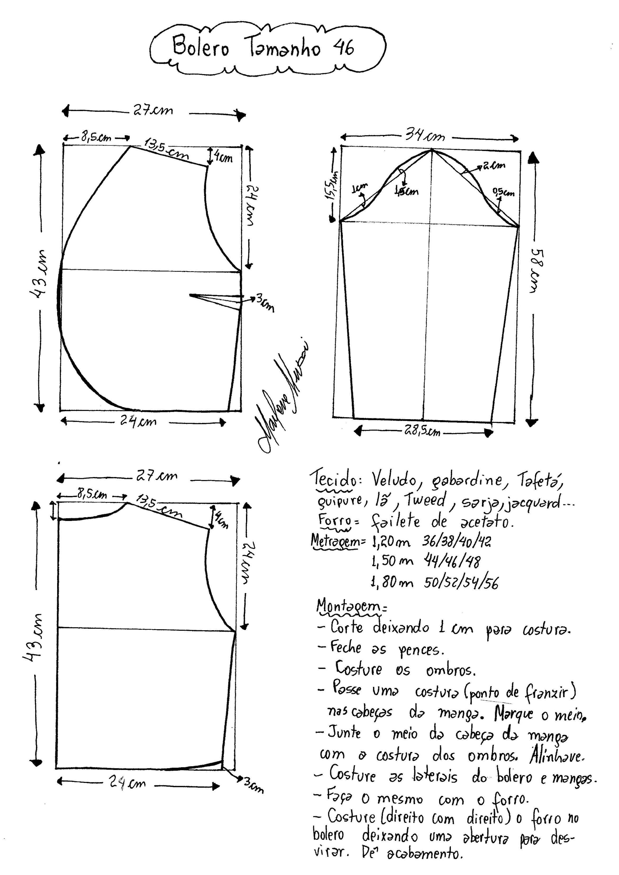 Bolero | Patrones costura | Pinterest | Costura, Patrones y Boleros