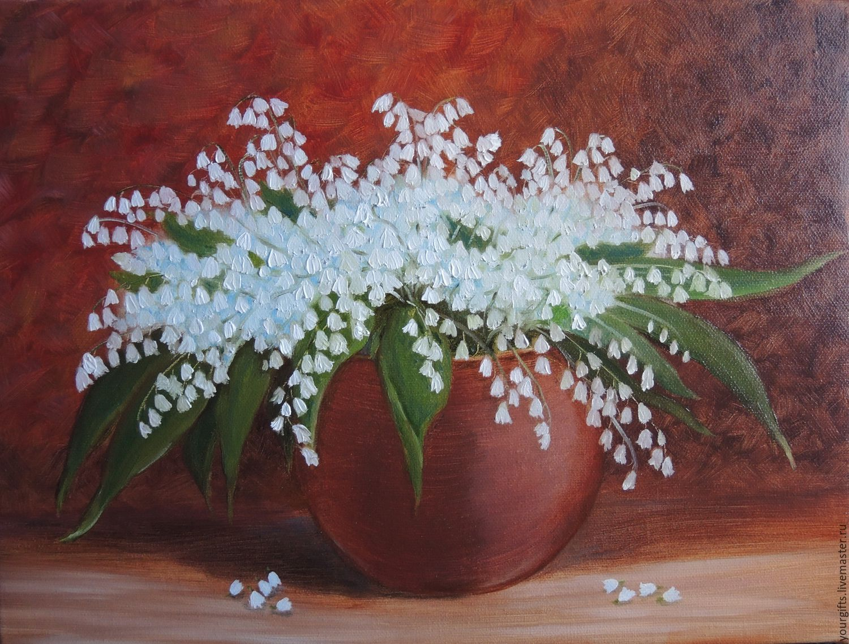 """Lilies"" oil Painting Flowers купить на Ярмарке Мастеров"