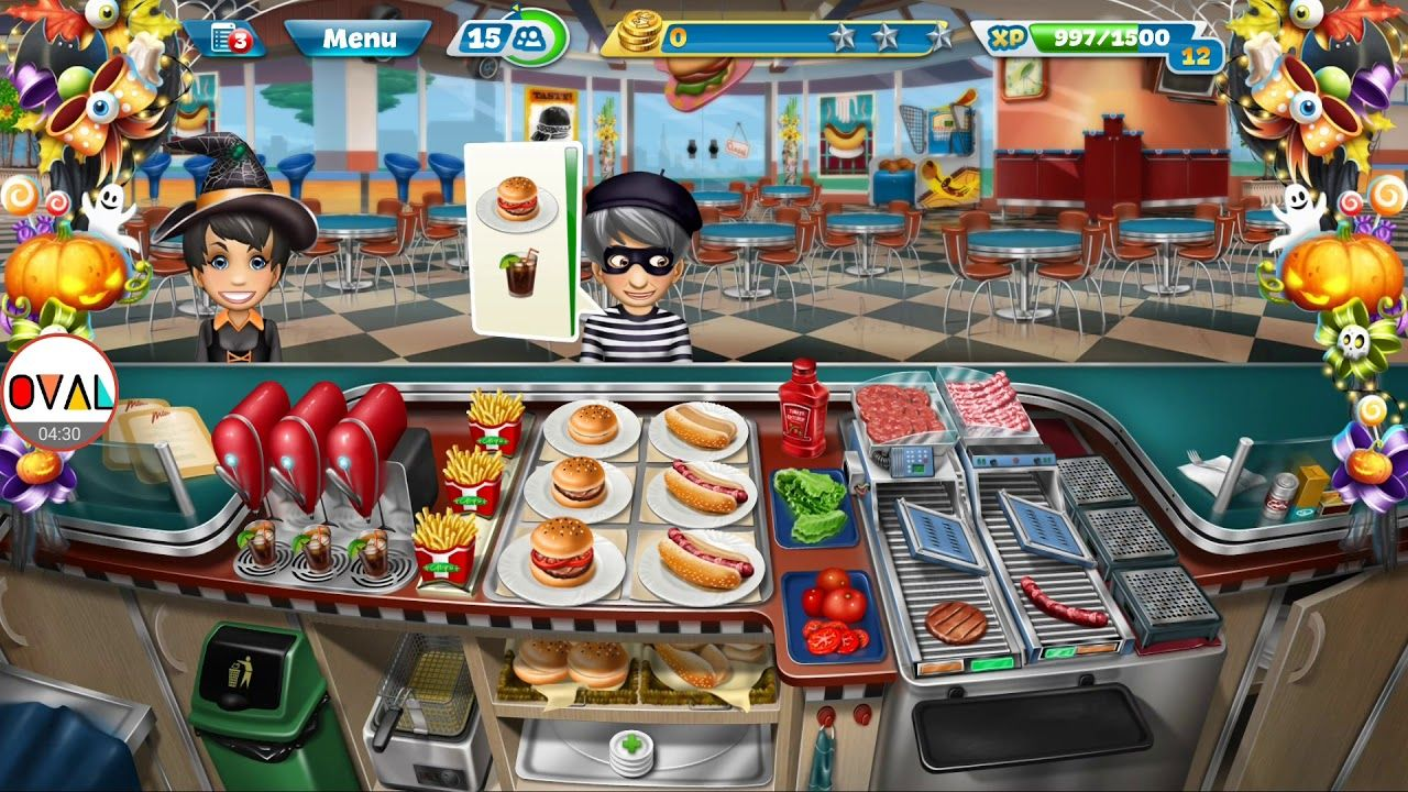 Cuisine Gameplay Cooking Fever Game Fast Food Court Level 10 To 15 Gameplay Oval