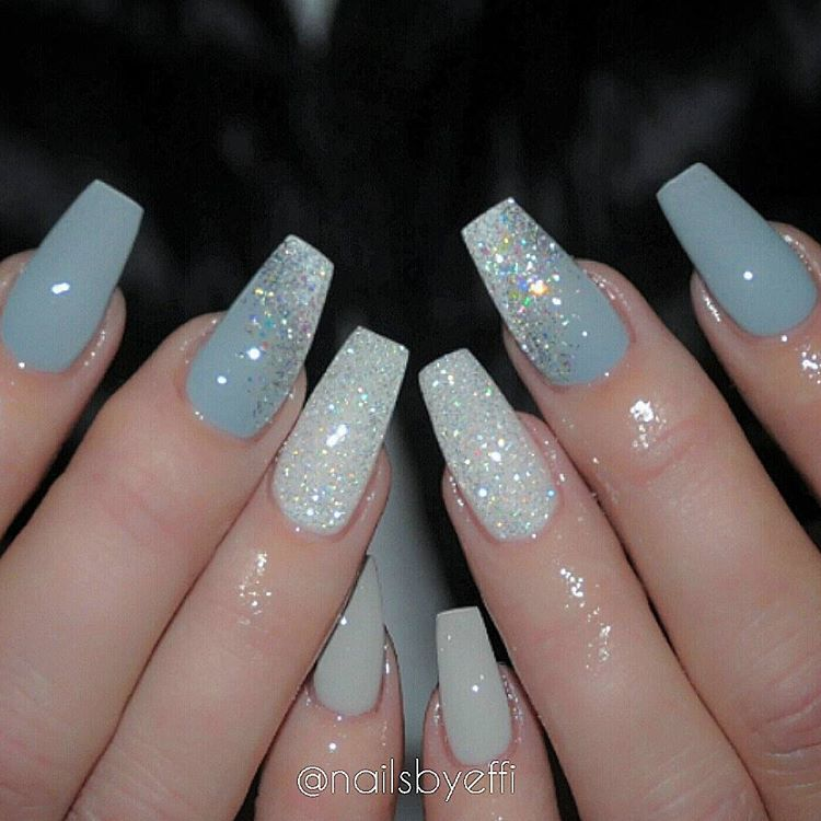 37 Perfect Acrylic Manicure Ideas To Create Elegant Impression In 2020 Nail Designs Glitter Shiny Nails Designs Nail Designs