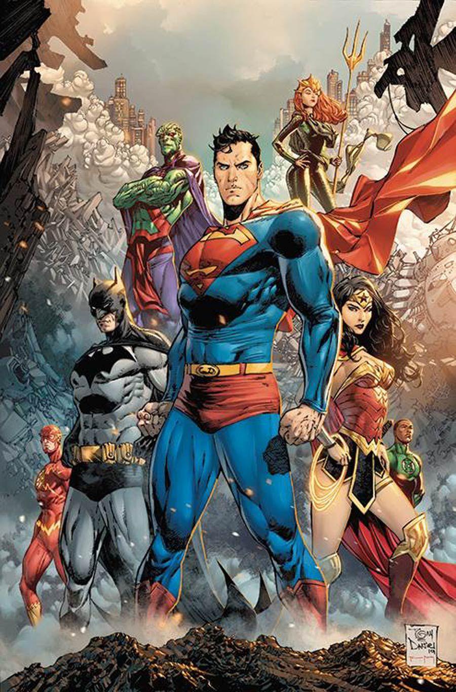 Justice League  Justice League Cover B Variant Tony S Daniel Cover