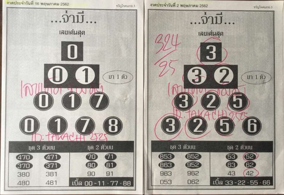 Thai Lottery Magazine Paper Complete Book For 16 6 2019 Lottery