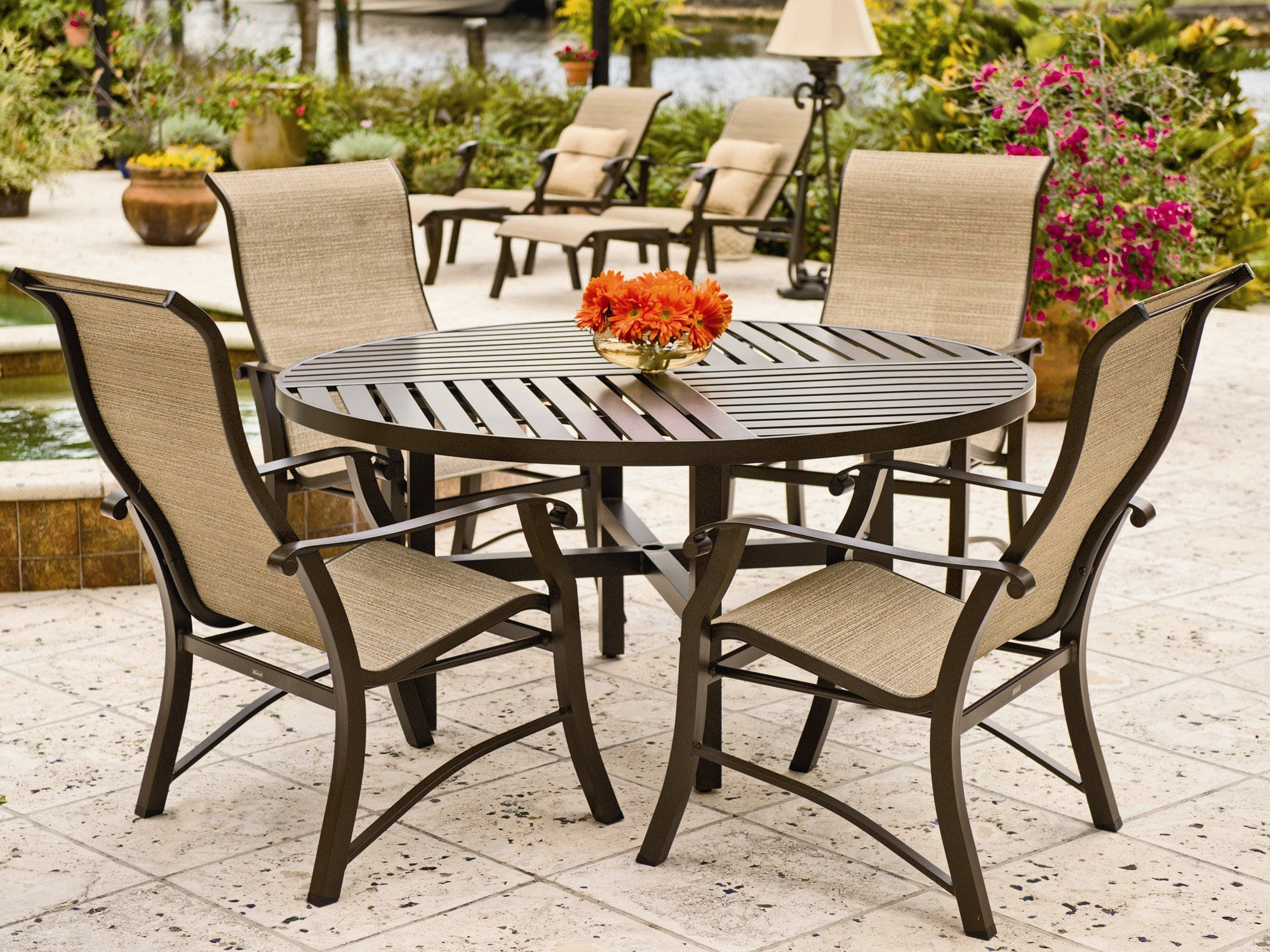 13 The Best Stone Patio Ideas (Dengan gambar) on Living Accents Cortland Patio Set id=28232