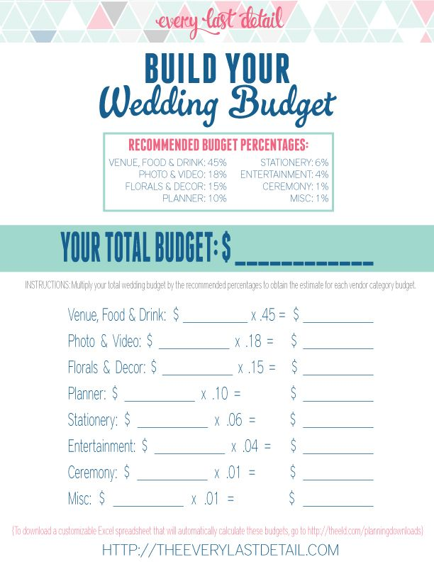 How To Create A Wedding Budget  Budgeting Weddings And Wedding