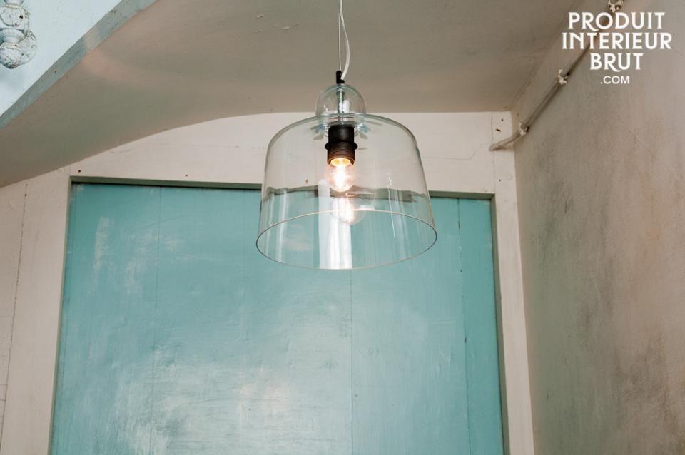 Suspension Cloche en verre
