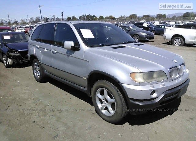 Salvage Silver Bmw X5 At Los Angeles Ca On Online Auction At