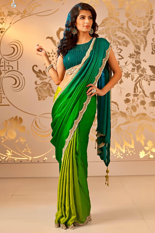 6e93492f9 Green Ombre Saree | Satya Paul Satya Paul Sarees, Indian Couture, Indian  Sarees,