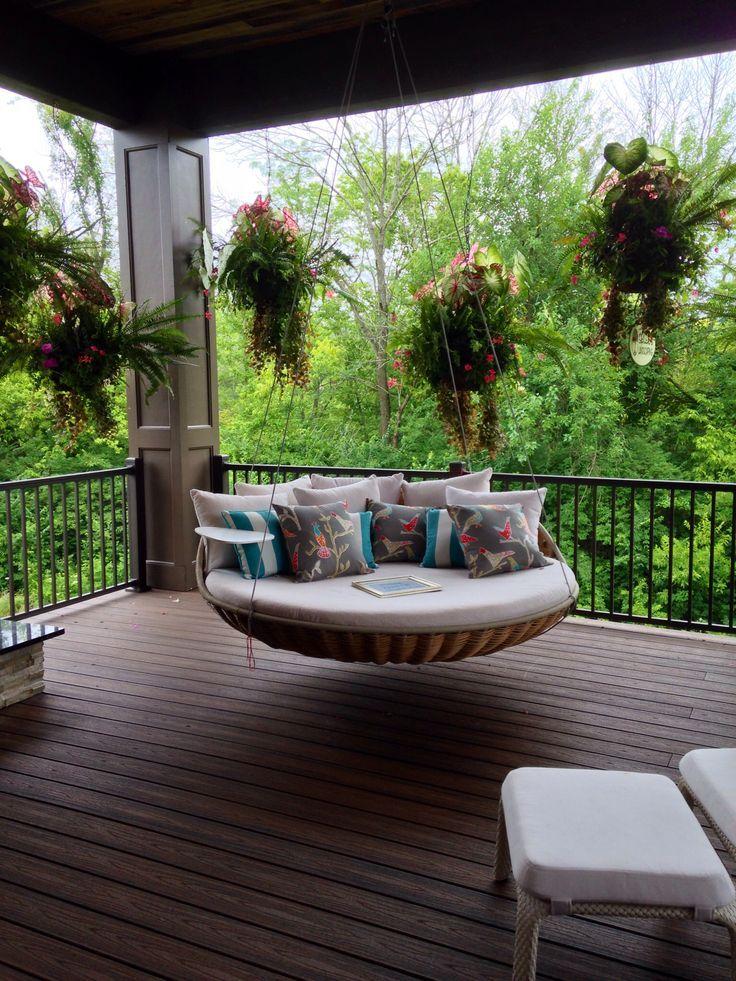 Photo of Außenräume 5: Terrasse mit Schaukel Eine sehr angenehme und komfortable Art, s…