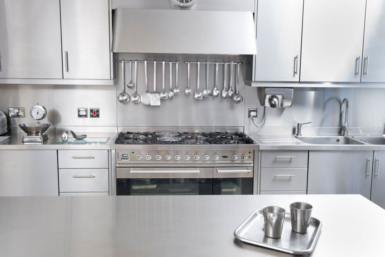 Stainless Steel Kitchen Cabinets Cstene Remodel Ideas  # Muebles Ribadeo