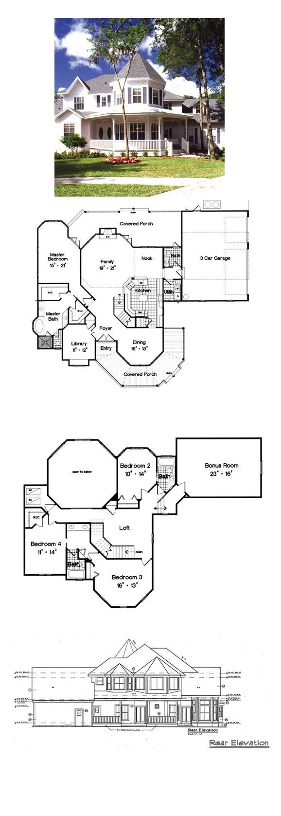 Victorian Style Cool House Plan Id Chp 16546 Total Living Area 3139 Sq Ft 4 Bedrooms And 3 5 Victorian House Plans Vintage House Plans Best House Plans