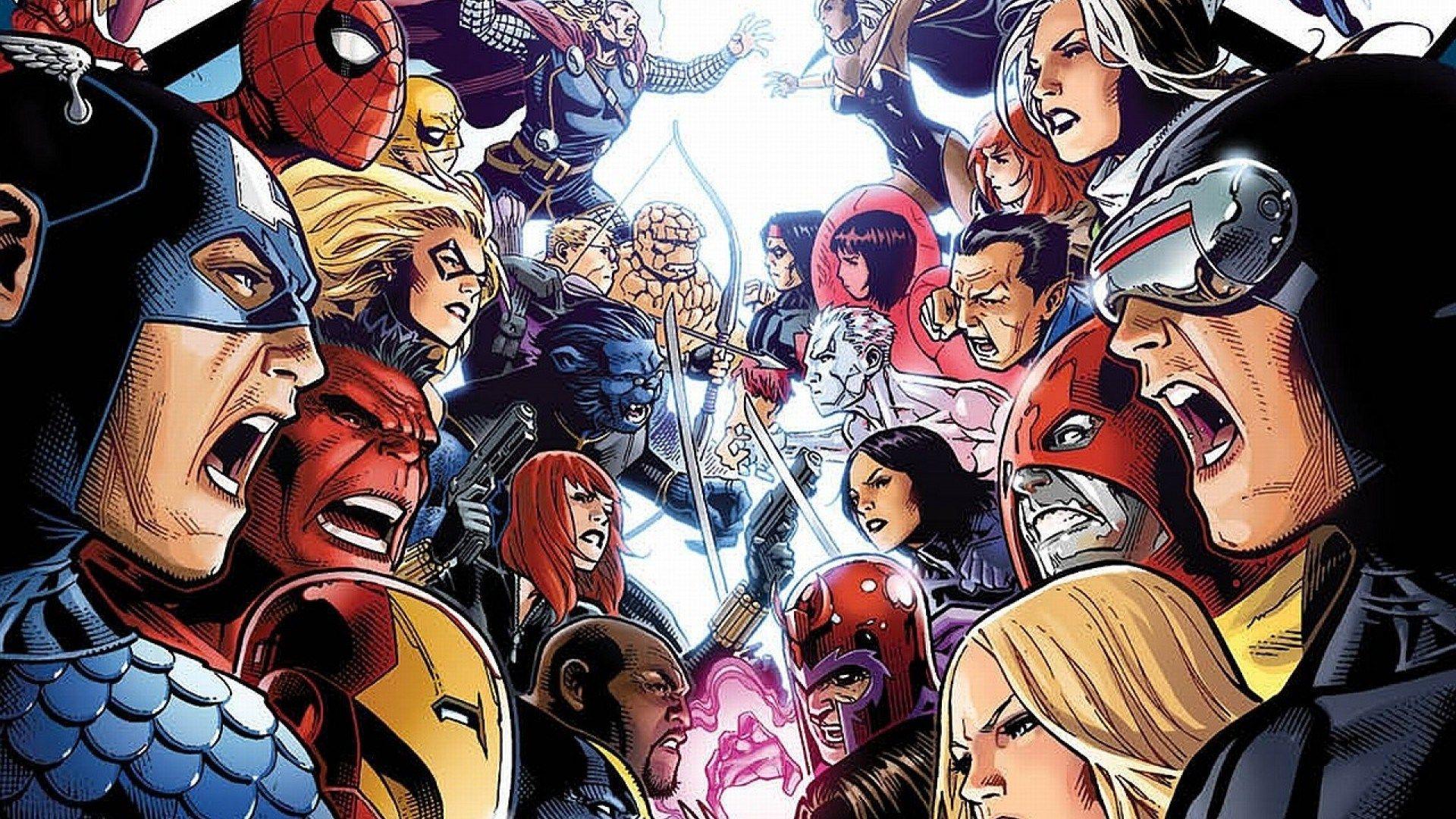 Avengers Vs X Men 1920x1080 Hd Wallpaper Superhero Facts Avengers Marvel Facts