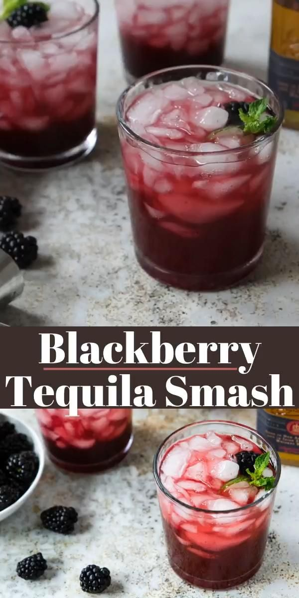 Blackberry Tequila Smash Video Mixed Drinks Recipes Tequila Cocktails Drinks Alcohol Recipes