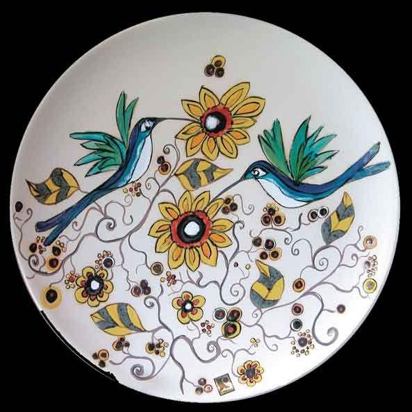 La fiesta de los colibries   cerámica de Fabiola Roura modelada a manio