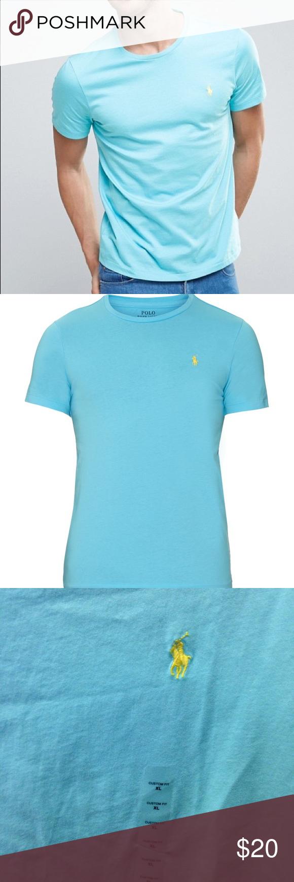 Ralph Lauren Polo Aqua Blue T Shirt Nwt Pinterest Light Blue