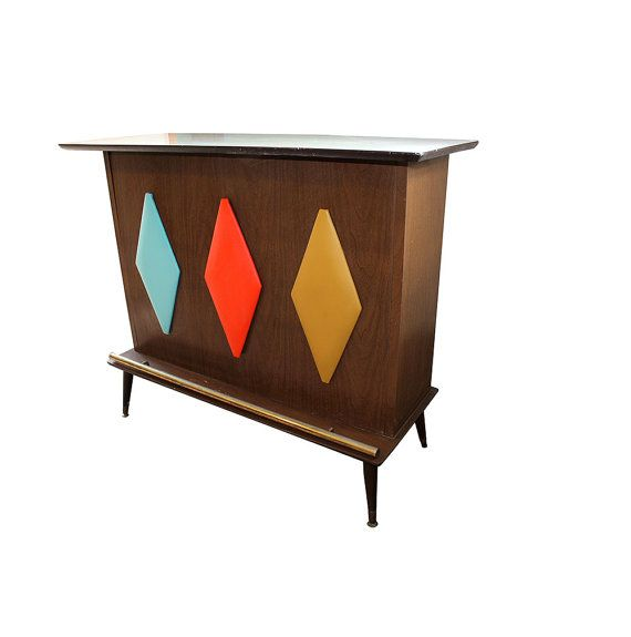 Retro Mid Century Home Bar By Betweenhitchingposts On Etsy 650 00