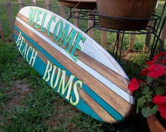 Charming Personalized Four Foot Surfboard Wall Hanging, Surfboard Wall Sign, Surfboard  Wall Decor