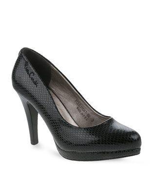 cheap pick a best Pierre Cardin Pierre Cardin Suede Platform Court Heels Black free shipping largest supplier 3HXHeKM
