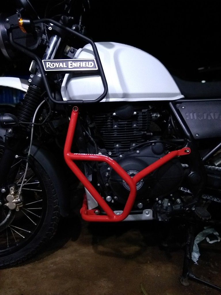 Royal enfield himalayan crash guard by a4 moto designs