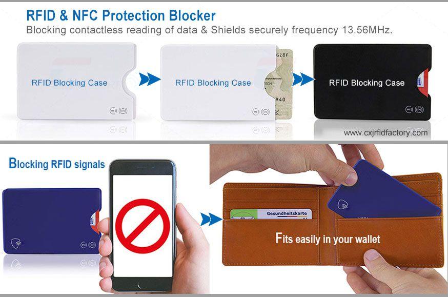Cxj hard pvc card sleeve protection credit card sleeve