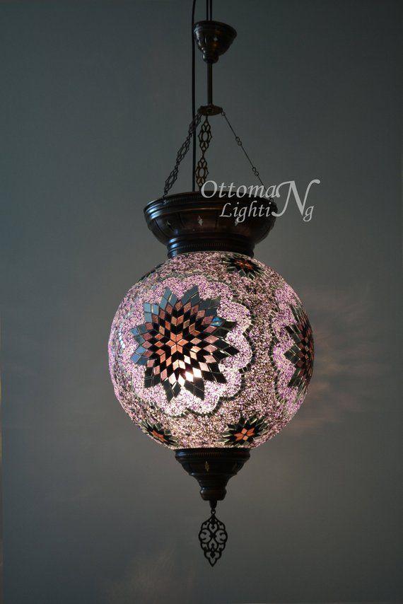 Extralarge Turkish Hanging Lamp Stunning Lantern Morrocan Decor Turkish Lamp Mosaic Lamp Bohemian Mosaic Lamp Morrocan Decor Turkish Hanging Lamp