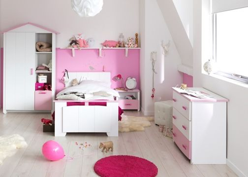 Chambre blanche et rose Betty | Filles blanches, Chambre filles et ...