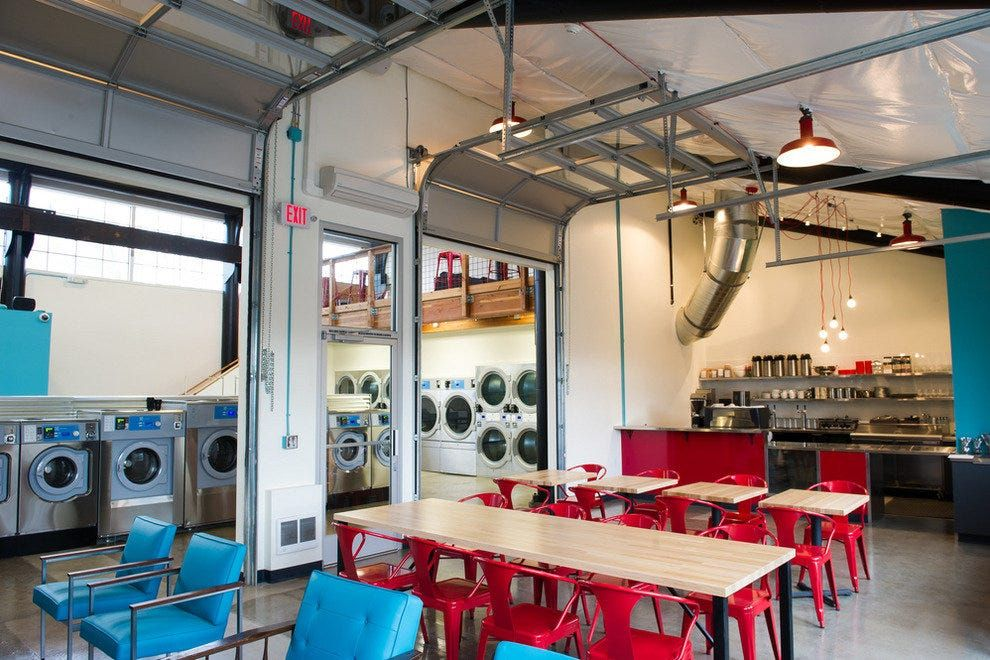 Portland Transforms The Laundromat Experience At Spin Laundry Lounge In 2021 Laundry Room Diy Laundromat Laundromat Business