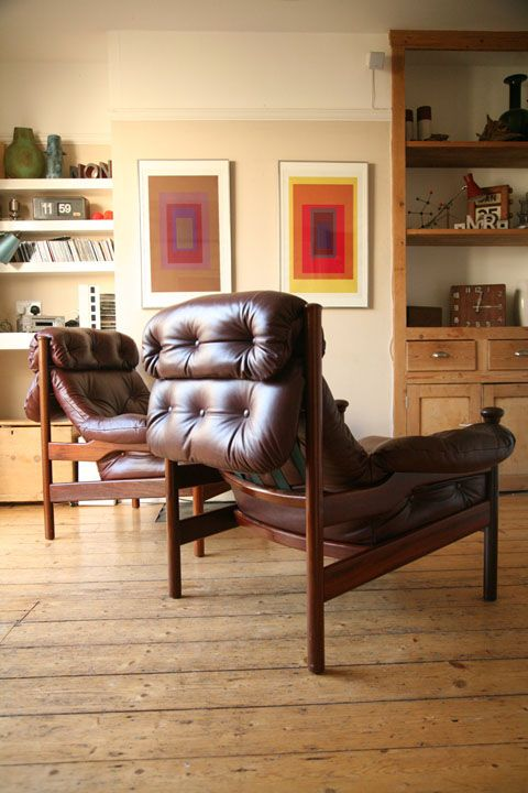 1960s Leather Armchairs By Guy Rogers Uk Leather Armchair Teak Armchair Armchair