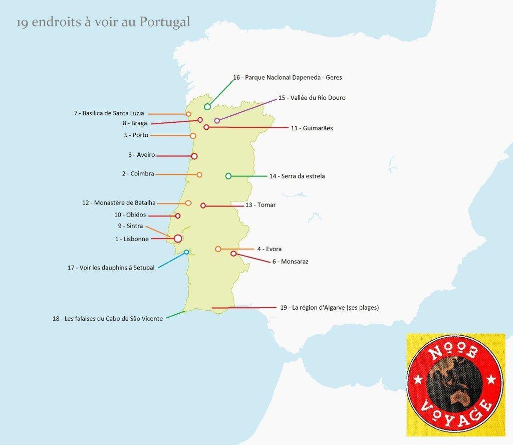 Carte Portugal Detaillee Carte Portugal Portugal Et Portugal
