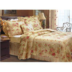 Antique Rose Quilt Set walmart.com