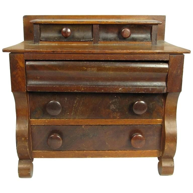 American Empire Furniture Century Style Miniature Step Up Chest Of Drawers For Characteristics Revival