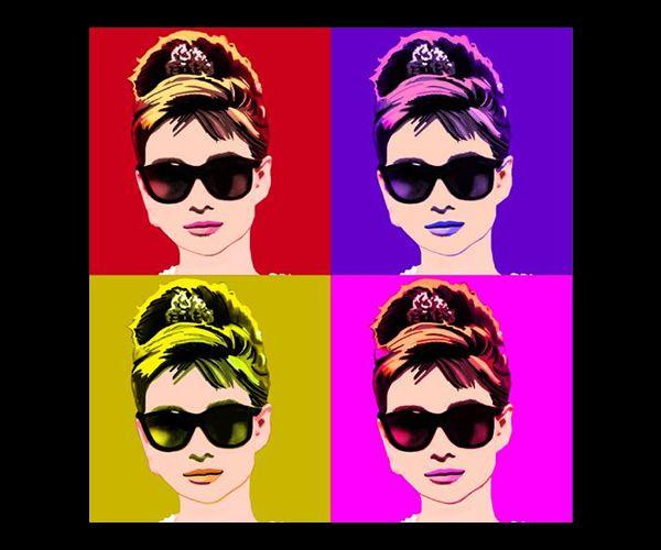 Audrey hepburn pop art artistas como audrey y cantantes - Laminas audrey hepburn ...