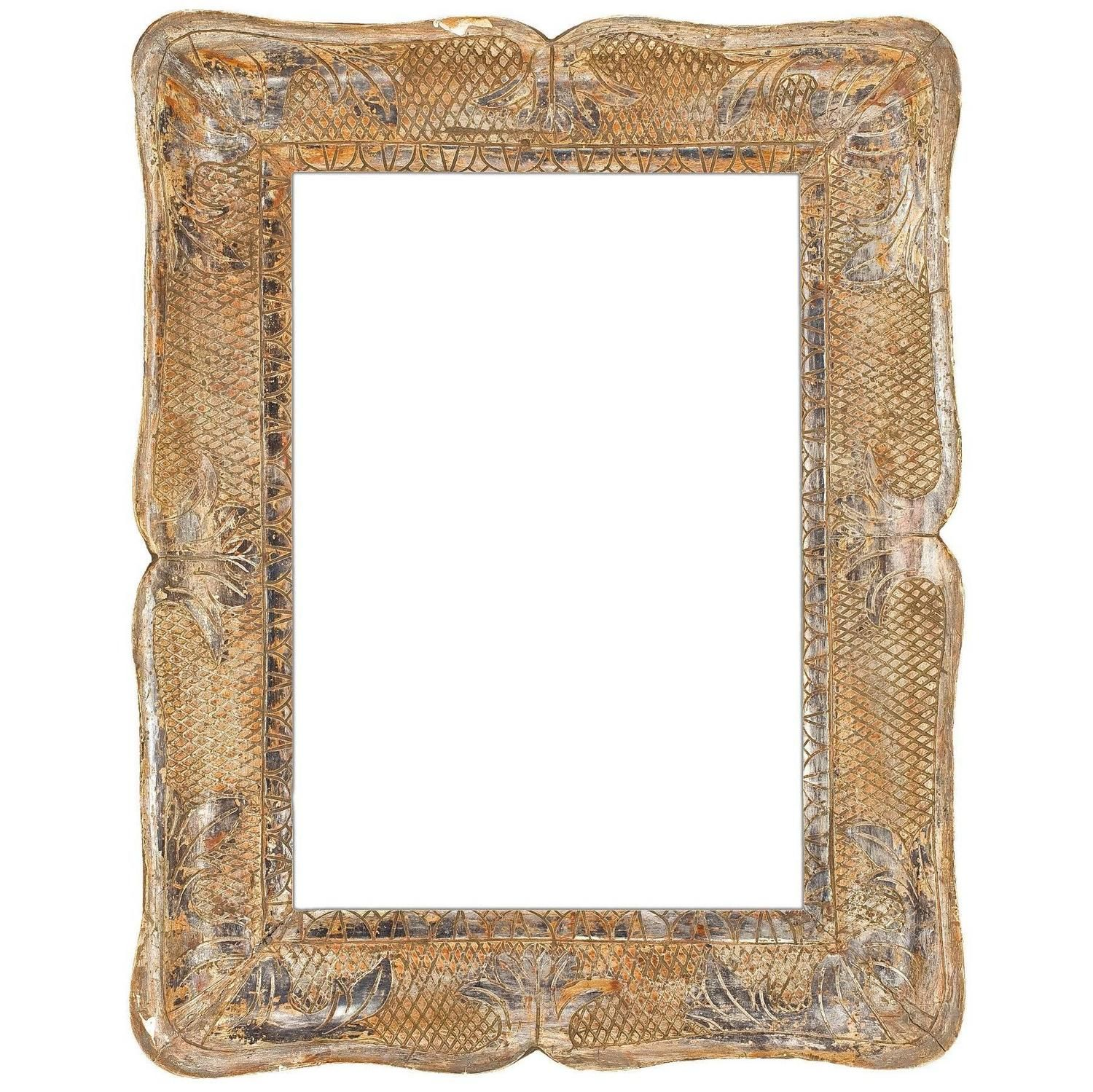 19th Century Italian Carved and Silver Gilt Frame   Frames ...
