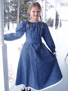 New Girls Pioneer Prairie Colonial Civil War Dress Costume Made To