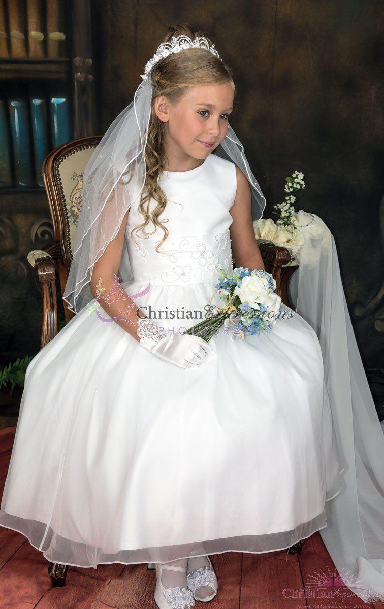 Traditional Tea Length First Communion Dress First Communion Dresses Communion Dresses Communion Dress [ 1200 x 756 Pixel ]