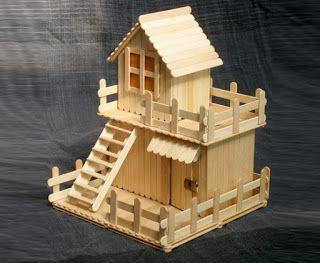 Ide Unik Membuat Rumah Mainan Dari Stik Es Krim Ragam Kerajinan Tangan