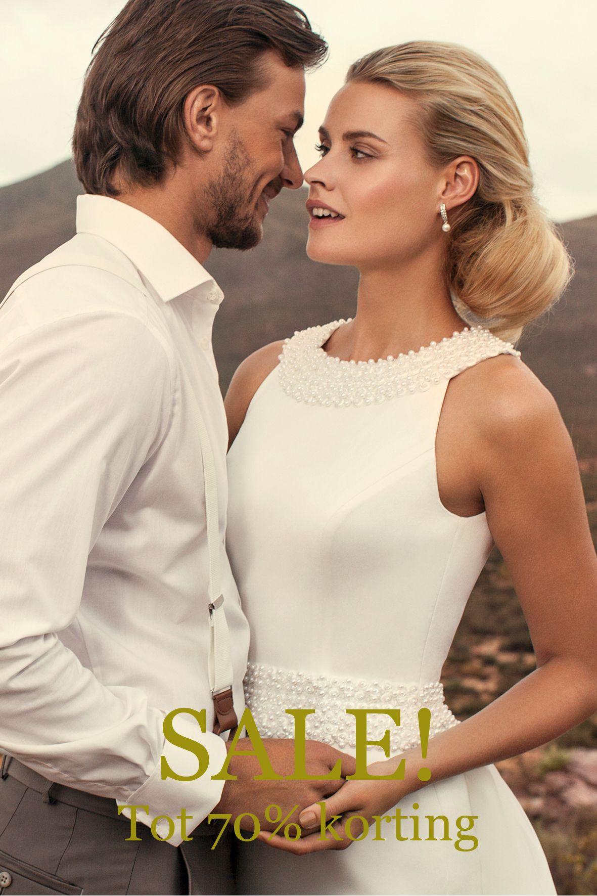 Kortingen tot wel 70% op onze prachtige collectie trouwjurken! www.bruidspaleis.nl/sale