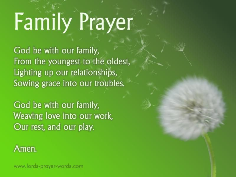 Family Prayer For Unity Amp Reunions Healing My Thoughts