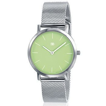SOB1107 Ladies Steel Watch w/Mesh Bracelet