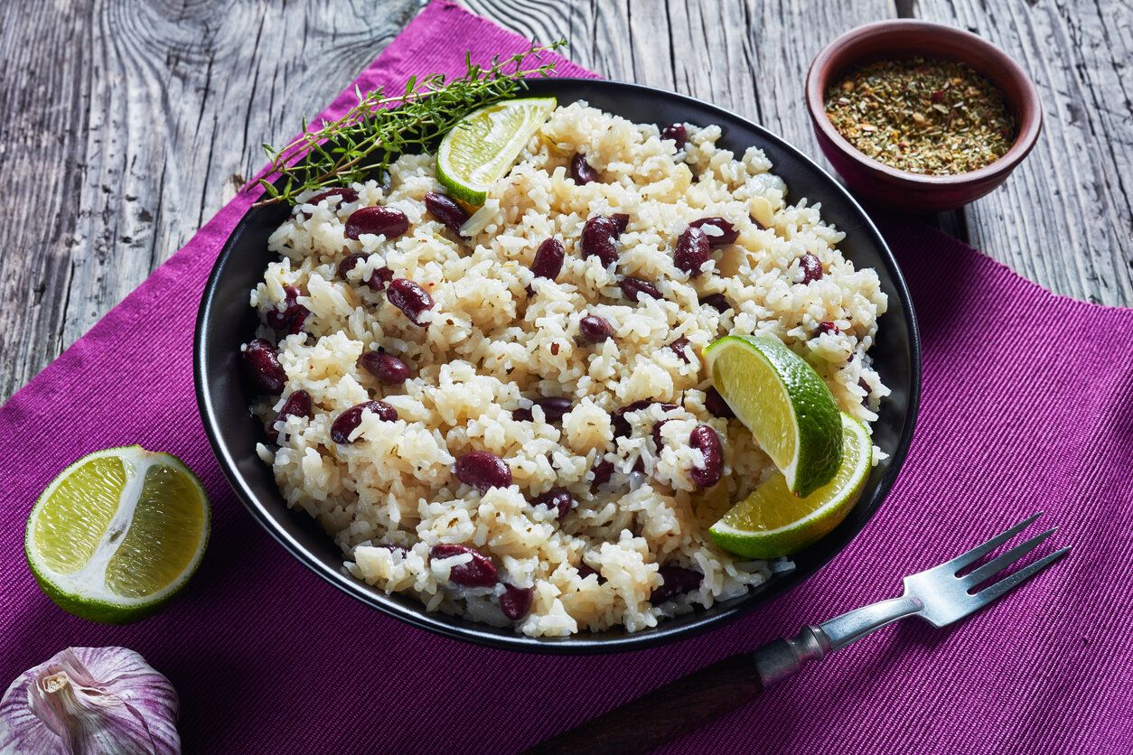 jamaican rice and peas • coconut rice and beans  the