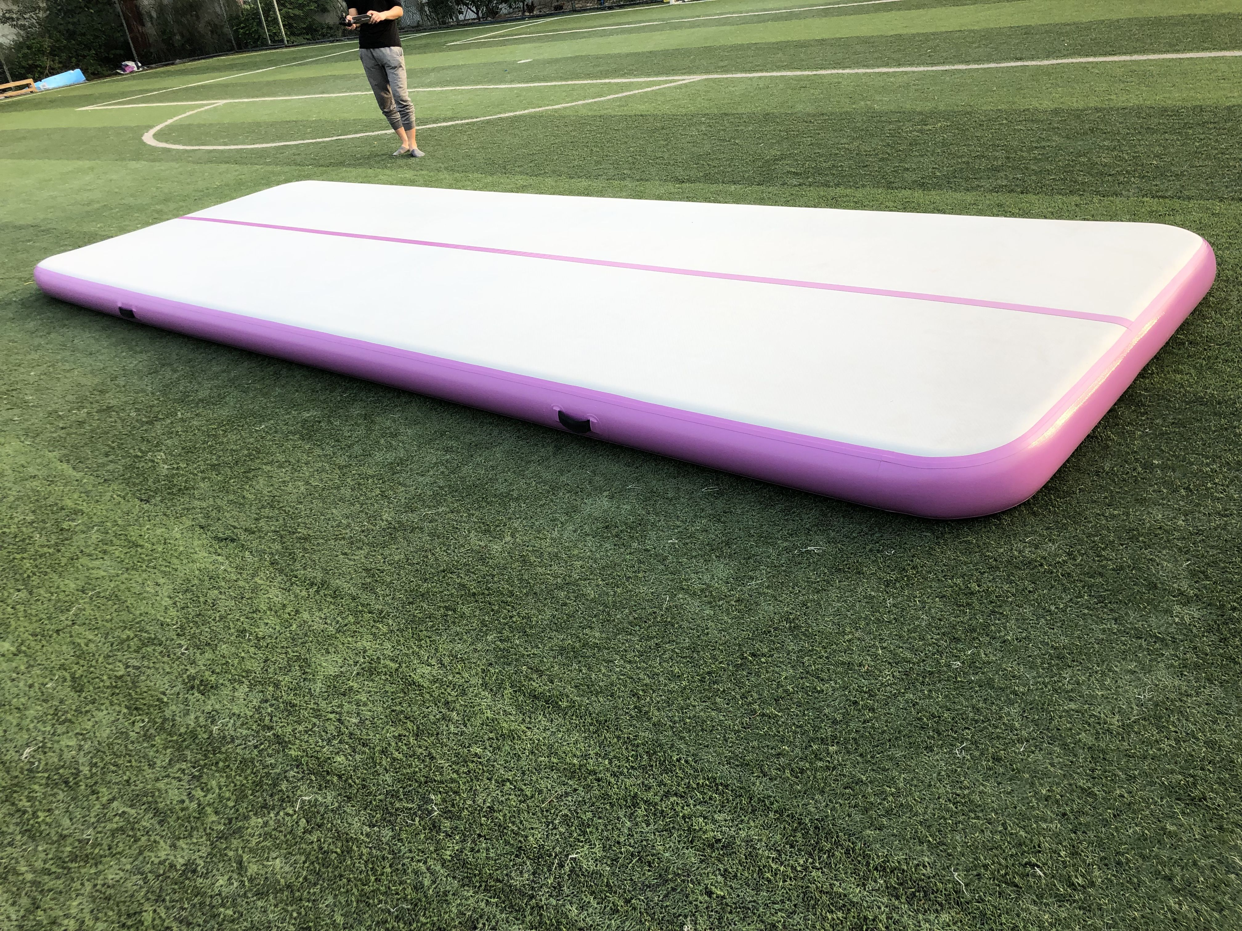 Lovely Purple Inflatable Air Training Track Gym Mat In 2020 Gym Mats Air Track Gym
