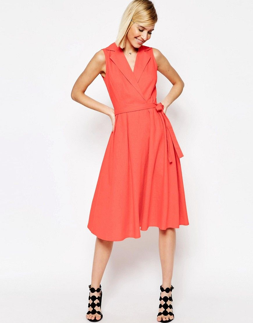linen midi dress sleeveless