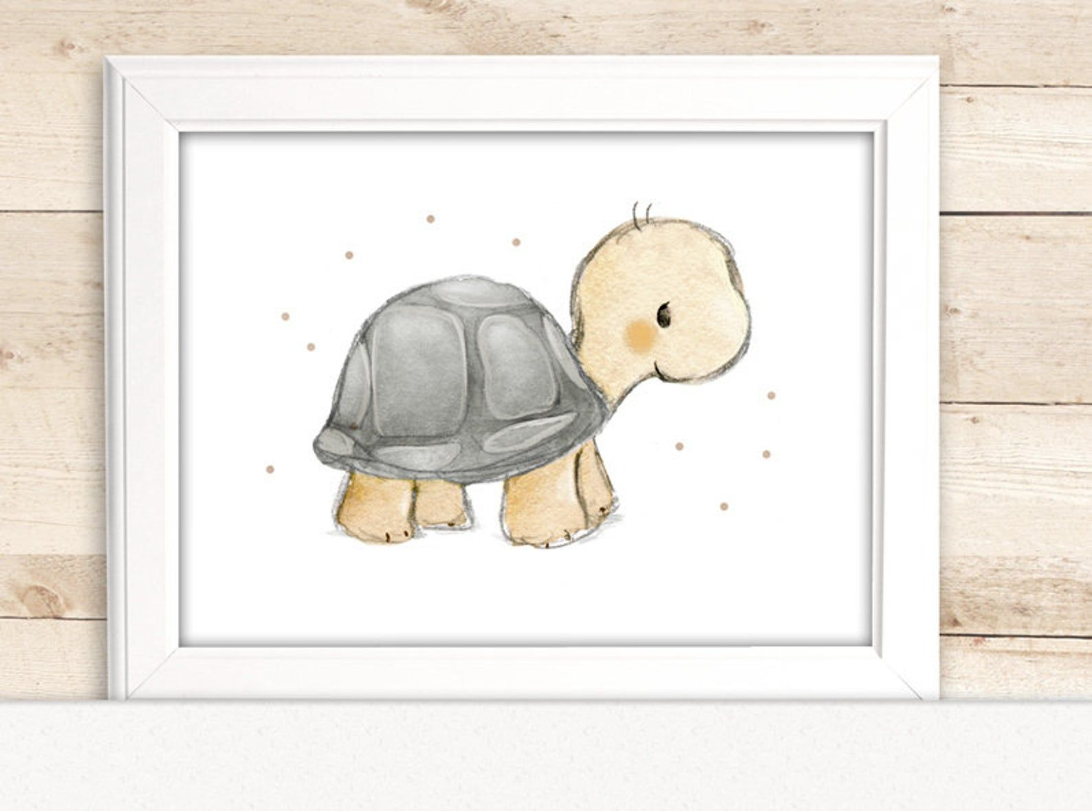 "Photo of Children's image ""Turtle"" for the nursery, children's pictures forest animals, children's room wall"