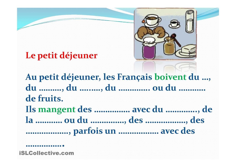 Les Repas En France