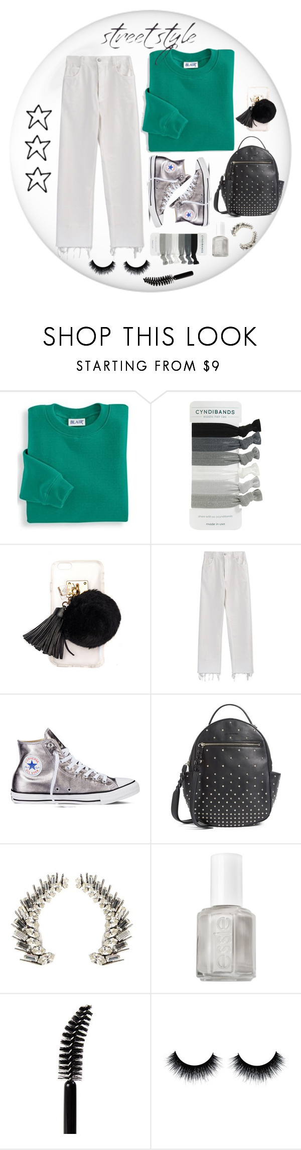 """👽"" by sari770 ❤ liked on Polyvore featuring Blair, Ashlyn'd, Rachel Comey, Converse, Alexander McQueen, Yves Saint Laurent, Essie and LORAC"