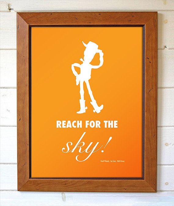 Disney Pixar Toy Story Sherif Woody Reach For The by BrightPaper