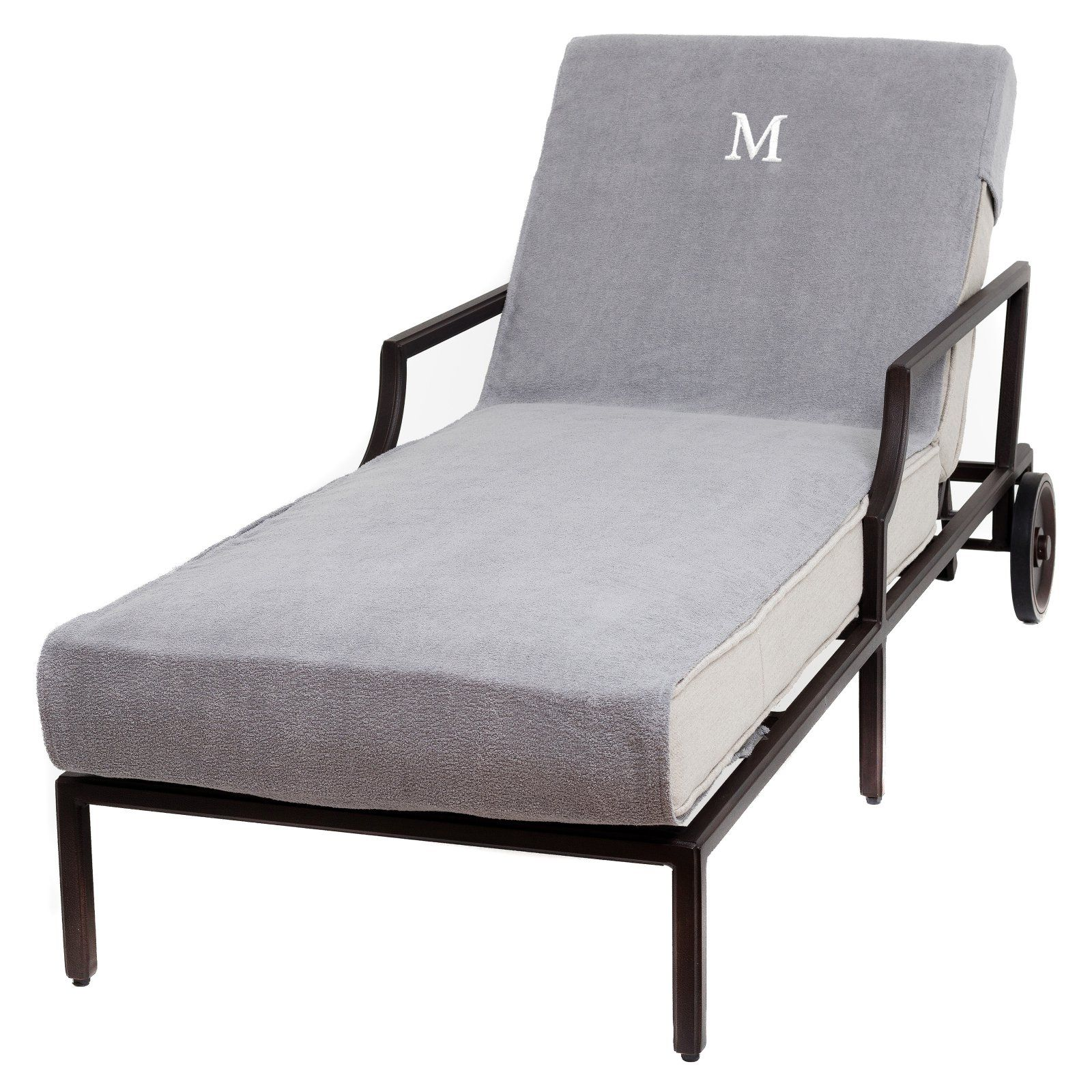 Linum Home Textiles Monogrammed Chaise Lounge Cover Patio Chaise Lounge Chaise Lounge Chaise Lounge Chair